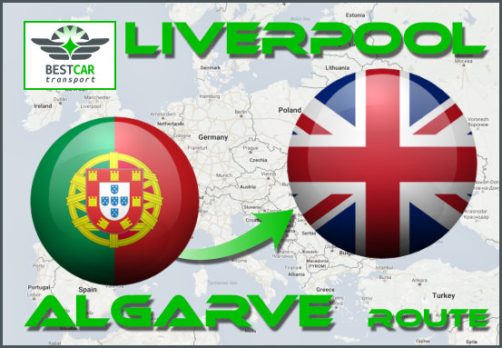 Car Transport From Algarve to Liverpool