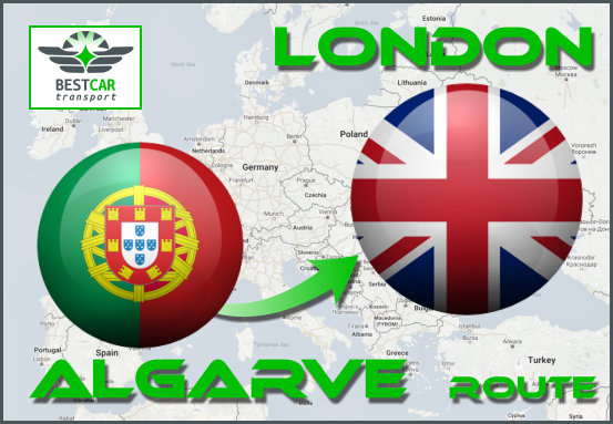 Car Transport From Algarve to London