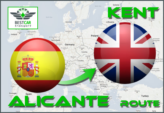 Car Transport From Alicante to Kent