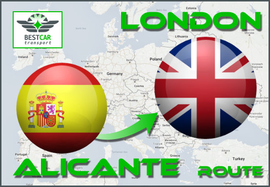 Car Transport From Alicante to London
