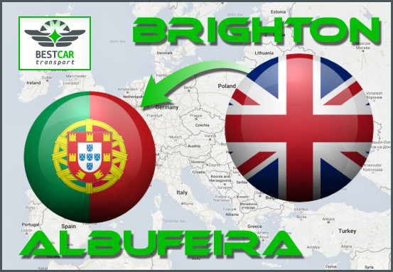 Car Transport From Brighton to Albufeira