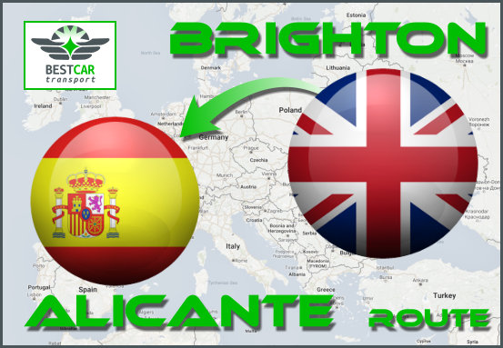 Car Transport From Brighton to Alicante
