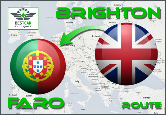 Car Transport From Brighton to Faro