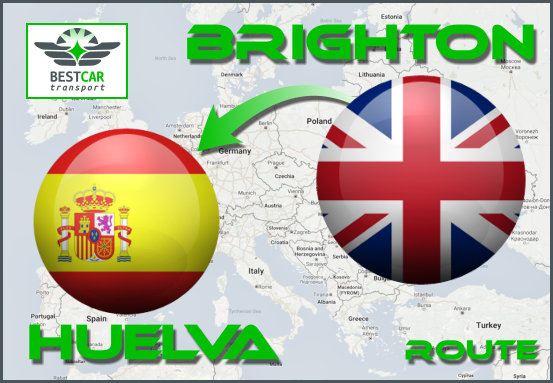 Car Transport From Brighton to Huelva