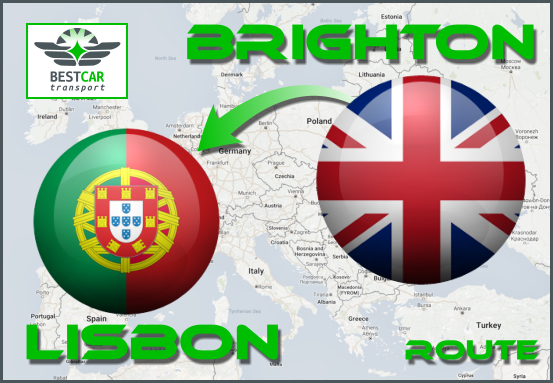 Car Transport From Brighton to Lisbon