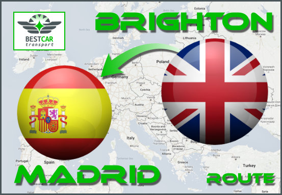 Car Transport From Brighton to Madrid