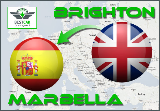 Car Transport From Brighton to Marbella