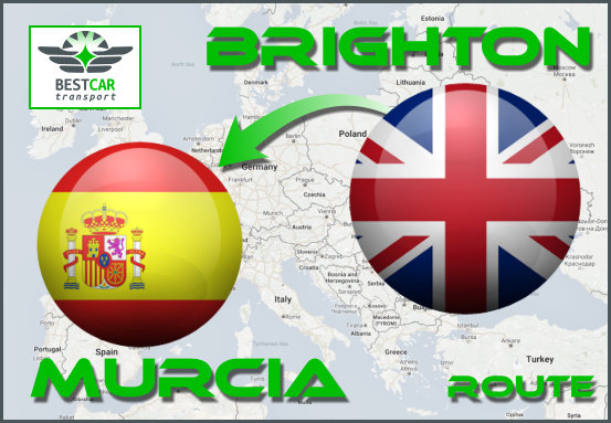 Car Transport From Brighton to Murcia