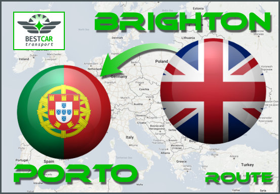 Car Transport From Brighton to Porto