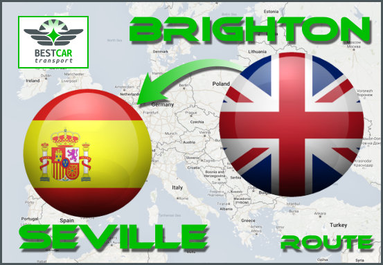 Car Transport From Brighton to Seville