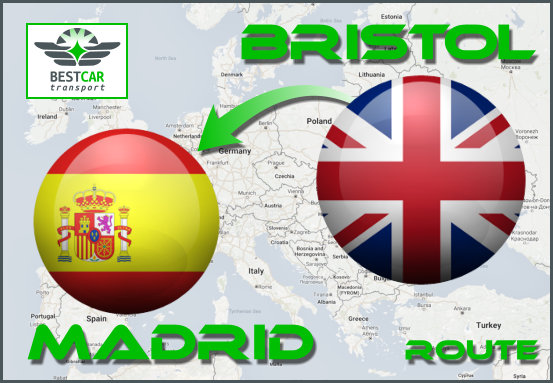 Car Transport Form Bristol to Madrid