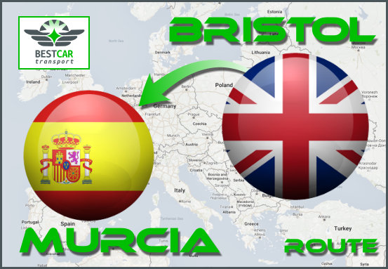 Car Transport Form Bristol to Murcia