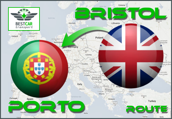 Car Transport Form Bristol to Porto