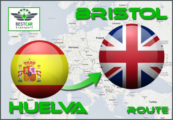 Car Transport Form Huelva to Bristol