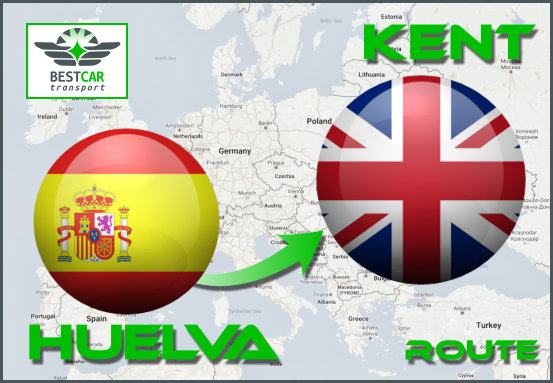 Car Transport Form Huelva to Kent
