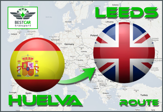 Car Transport Form Huelva to Leeds