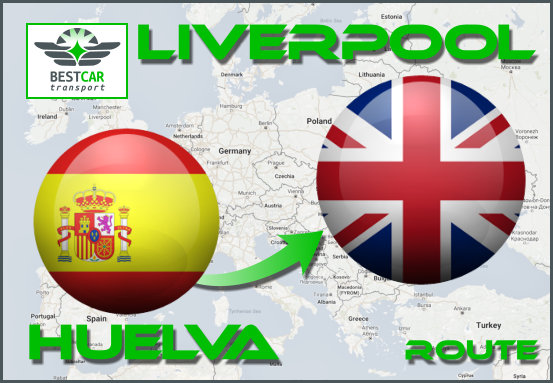 Car Transport Form Huelva to Liverpool