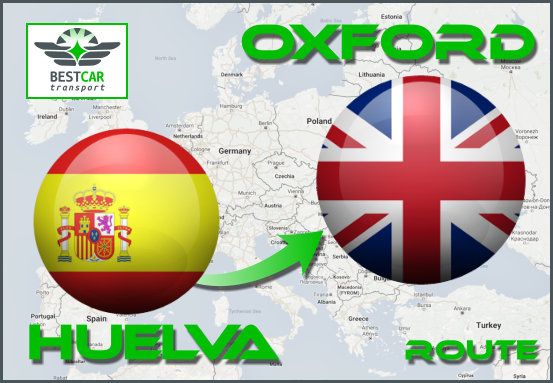 Car Transport Form Huelva to Oxford