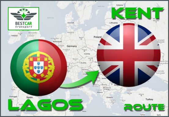 Car Transport Form Lagos (Portugal) to Kent
