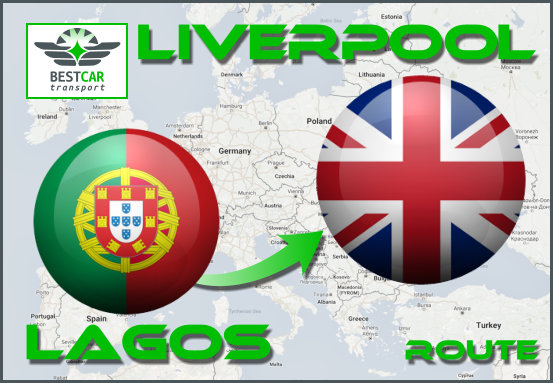 Car Transport Form Lagos (Portugal) to Liverpool