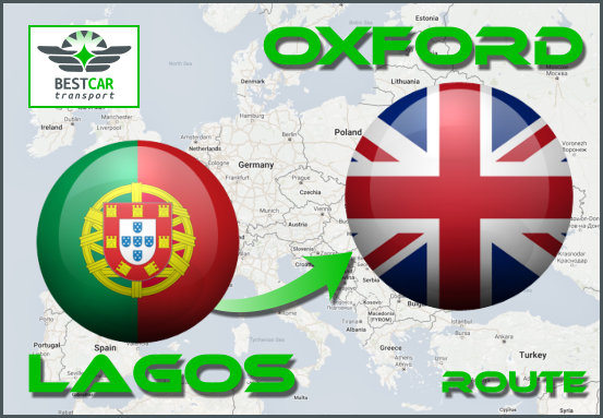 Car Transport Form Lagos (Portugal) to Oxford