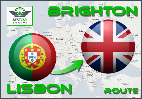 Car Transport From Lisbon to Brighton