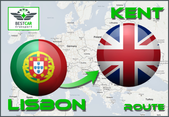 Car Transport From Lisbon to Kent