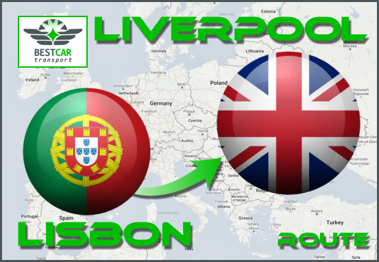 Car Transport From Lisbon to Liverpool