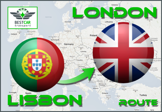 Car Transport From Lisbon to London