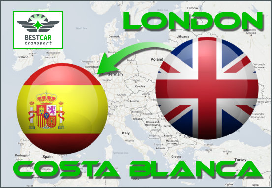 Car Transport Form London to Costa Blanca