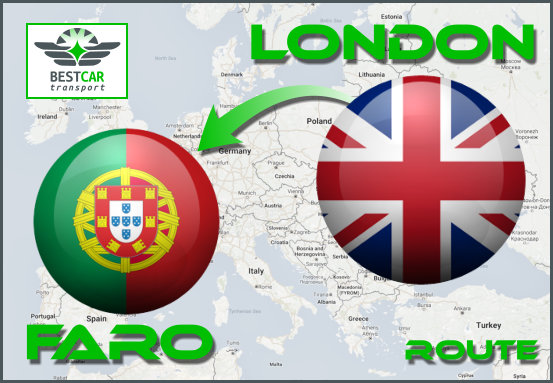 Car Transport Form London to Faro