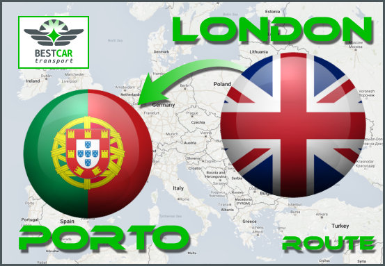 Car Transport Form London to Porto