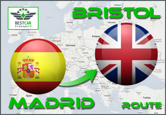 Car Transport From Madrid to Bristol