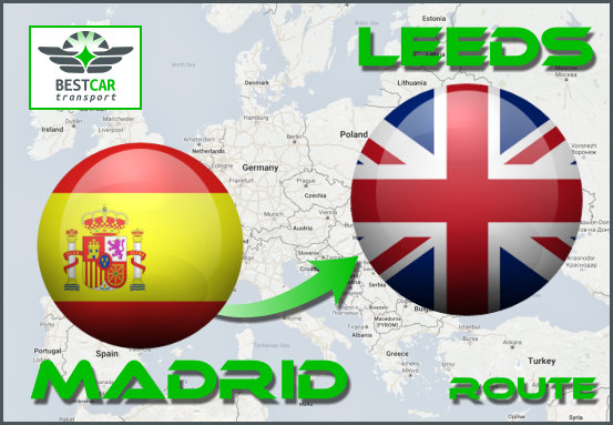 Car Transport From Madrid to Leeds