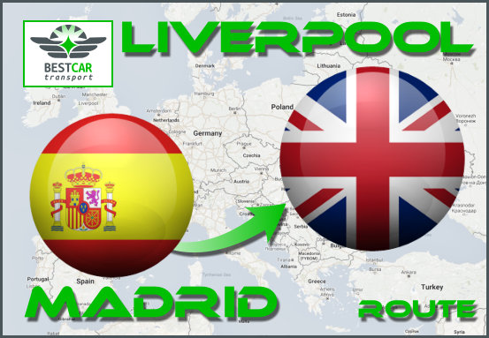Car Transport From Madrid to Liverpool