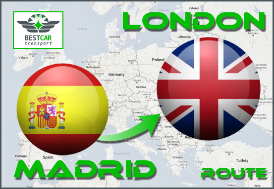 Car Transport From Madrid to London
