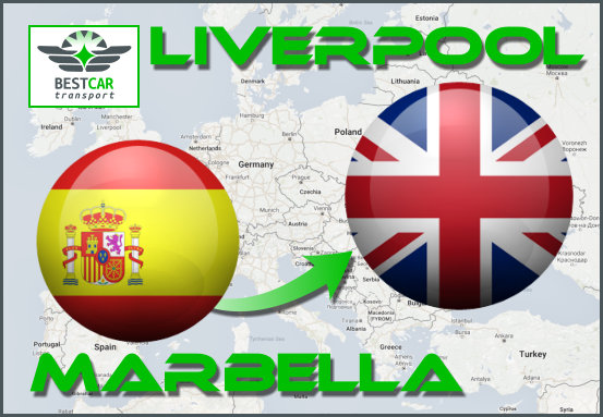 Car Transport From Marbella to Liverpool
