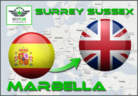 Car Transport From Marbella to Surrey Sussex