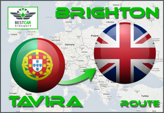 Car Transport Form Tavira to Brighton