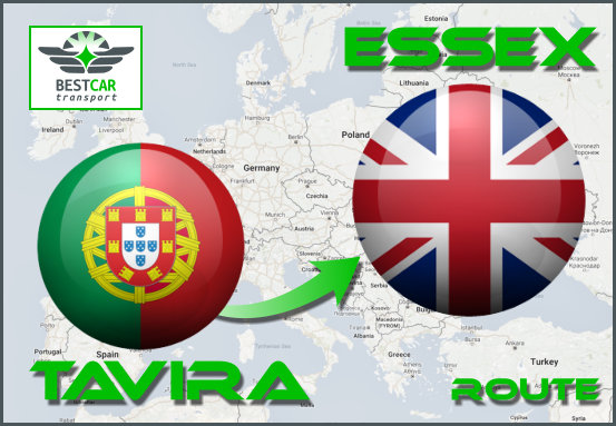 Car Transport Form Tavira to Essex