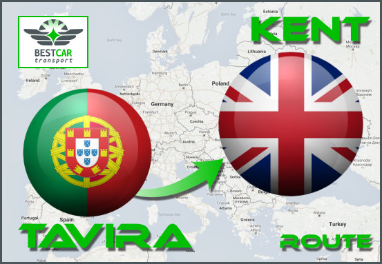 Car Transport Form Tavira to Kent