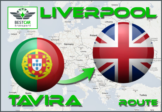 Car Transport Form Tavira to Liverpool
