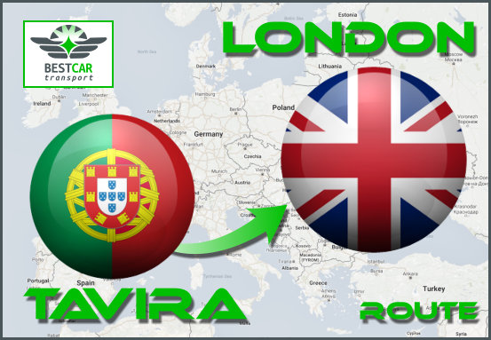 Car Transport Form Tavira to London