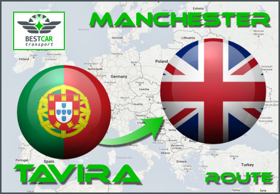 Car Transport Form Tavira to Manchester