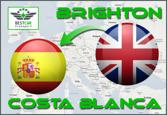 Car Transport Form Brighton to Costa Blanca