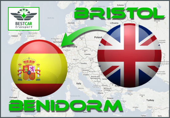 Car Transport Form Bristol to Benidorm