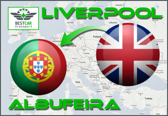Car Transport Form Liverpool to Albufeira