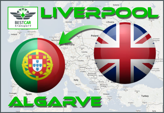 Car Transport Form Liverpool to Algarve