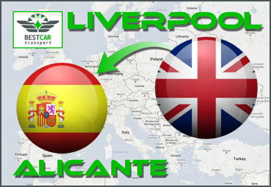 Car Transport Form Liverpool to Alicante