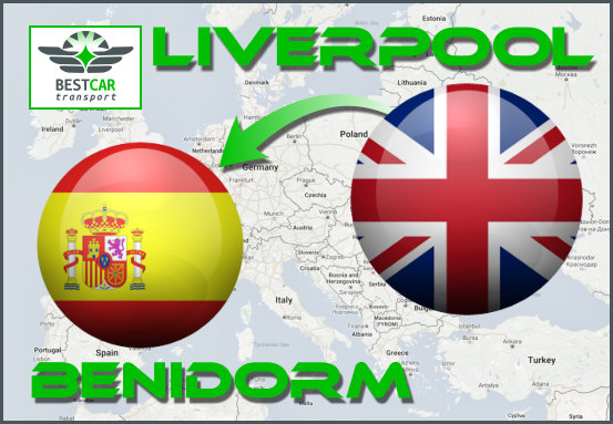 Car Transport Form Liverpool to Benidorm